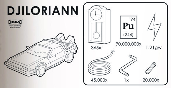 Build Your Own DeLorean With This Ikea Manual